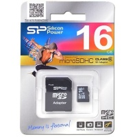 MicroSDHC 16GB Silicon Power Class6 (с адаптером)